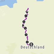 Karte / Auf dem Leine-Heide-Radweg von Leinefelde nach Hamburg