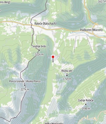 Map / Parkplatz oberhalb der Planica Schanzenanlage
