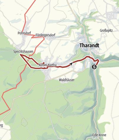 """Karte /  Wanderroute """"Sekundenweg"""""""