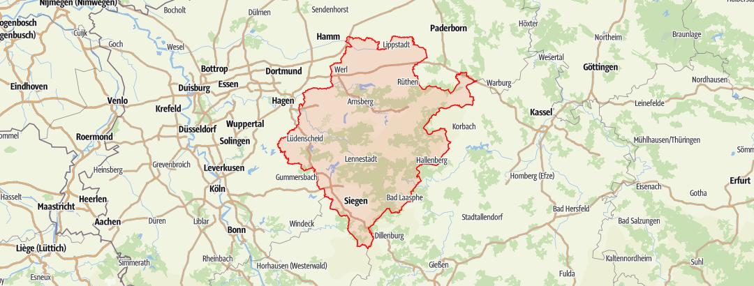 Map / WasserEisenLand in Südwestfalen