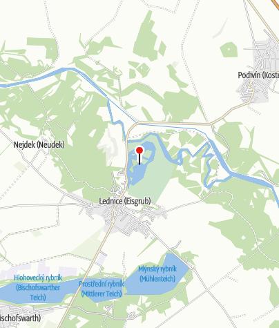 Map / Národní přírodní rezervace Lednické rybníky
