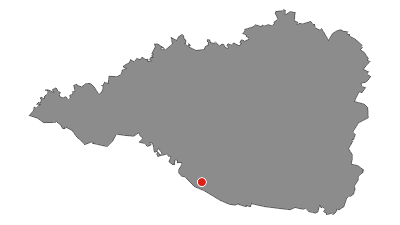 Map / Area of Czech fortification in Šatov with infantry cabin MJ - S3 Zahrada