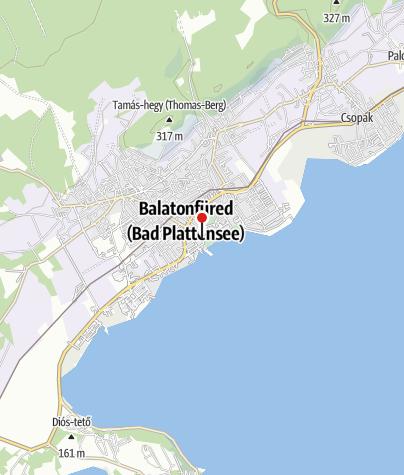 Mapa / Balatonfüredi kerektemplom