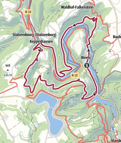 Carte / NaturWanderPark delux: Nat'Our Route 4 - Ourtalschleife (L-Bivels)