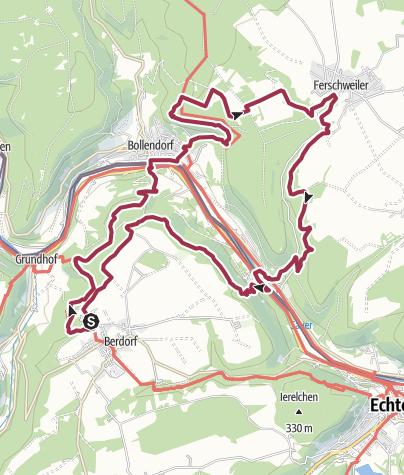 Carte / NaturWanderPark delux: Felsenweg 3 (D-Ferschweiler/L-Berdorf)