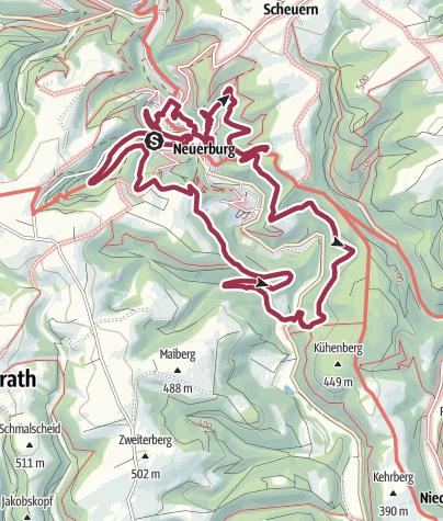 Carte / NaturWanderPark delux: Neuer-Burg-Weg (Neuerburg)