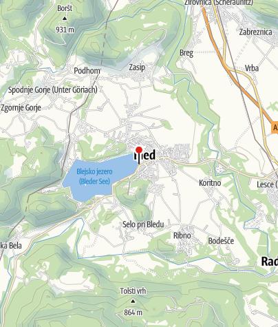 Map / wi-fi Tourist Information Center (TIC) Bled, Bled Tourist Association