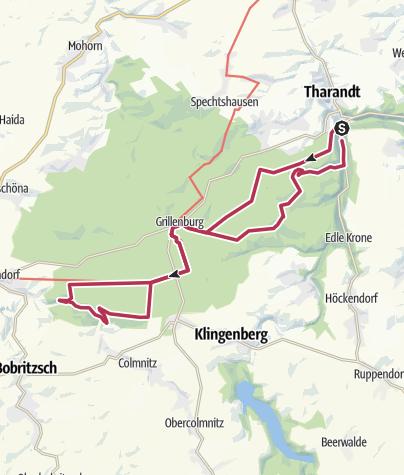 Karte / 13. Route: Wo Räuber einst hausten - Unterwegs zum Mittelpunkt Sachsens