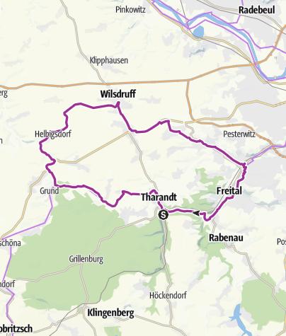Karte / 1. Route: Mit dem Rad das ehemalige Schmalspurnetz erkunden