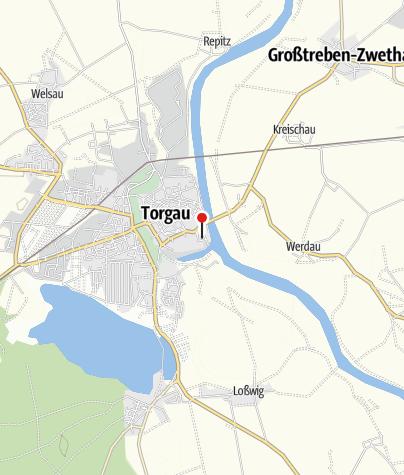 Karte / Gedenkstätte Geschlossener Jugendwerkhof Torgau