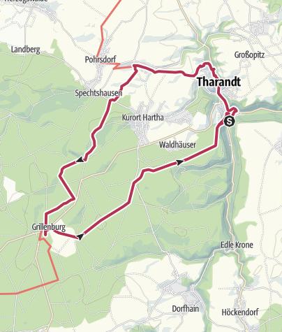 """Karte / 8. Route: Auf historischen Wegen - """"Pilgerwege Heiliger Weg/ Jakobsweg"""""""