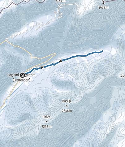Map / Snowshoeing into the Loška Koritnica Valley