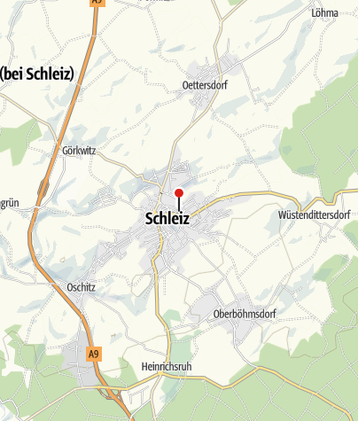 Map / The Rutheneum in Schleiz