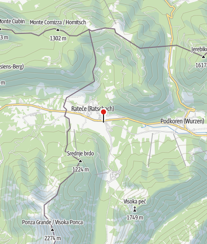 Map / Recurrent lake of Ledine