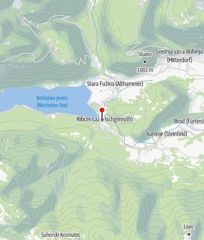 Map / Turistično-informacijski center Bohinj - Ribčev Laz