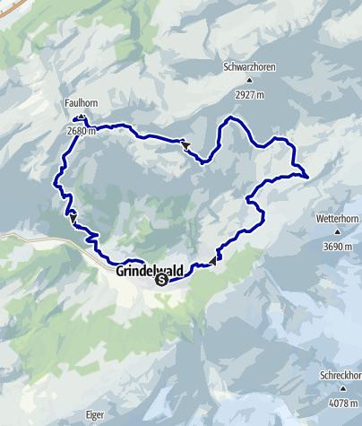 Kaart / Grosse Panoramarunde Nr. 34