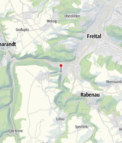 """Karte / Gasthaus """"Zum Rabenauer Grund"""""""
