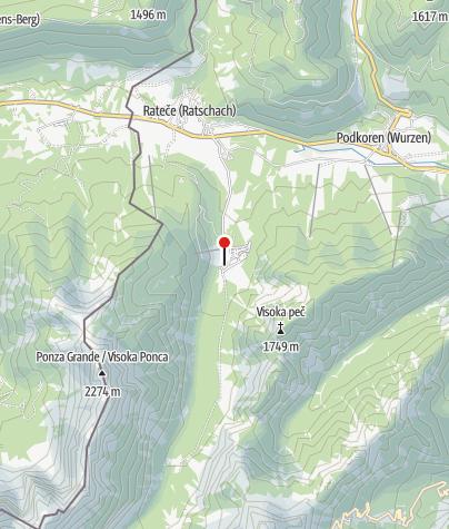 Map / Die Schanzenanlage in Planica Planica