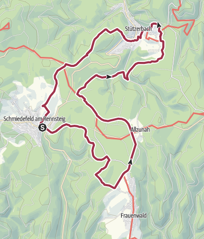 Map / Rundwanderung - Doktor Wald-Weg - Schmiedefeld am Rennsteig - Thüringer Wald