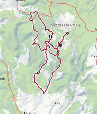Map / Rundwanderweg - Vessertal - Schmiedefeld am Rennsteig - Thüringer Wald
