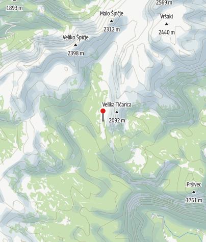 Map / Koča pri Triglavskih jezerih, umgeben von Seen
