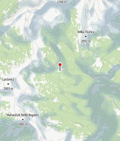 Map / Planina Kalu - am Weg zur Lepa Komna