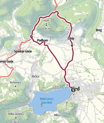 Map / From Bled to Vintgar