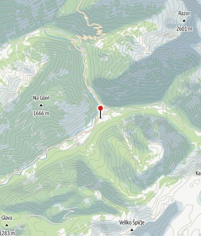 Karte / Alpe-Adria-Trail Infopoint Trenta