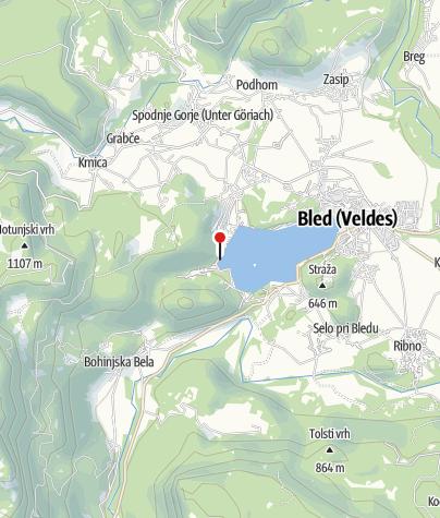 Map / Defibrilator Velika Zaka - tribune
