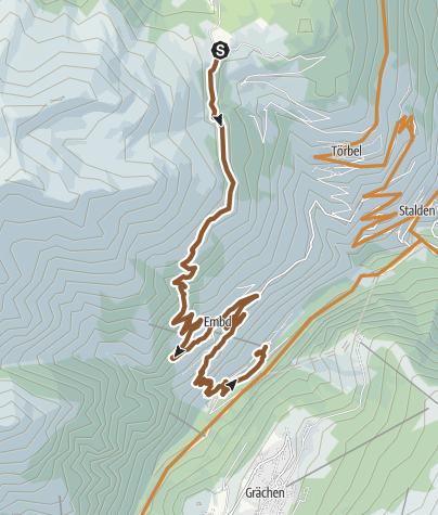 Karte / Moosalp Kalpetran Enduro