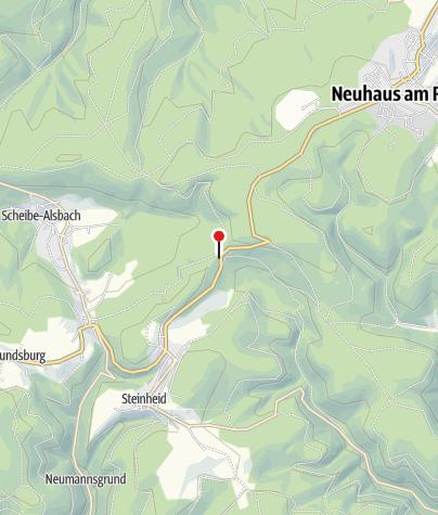 Map / Steinheider Hütte - Versorgungsstelle Rennsteig-Etappenlauf