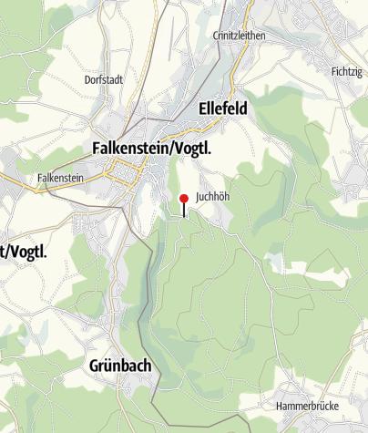 Karte / Parkplatz an der Talsperre Falkenstein