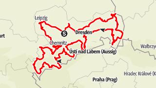 Mapa / Route der Industriekultur Sachsen