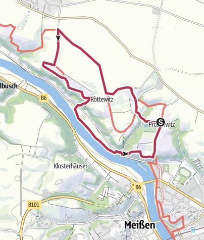 Karte / Den Dom im Blick - Meißner Panoramatour