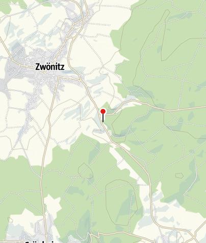 Karte / Felsbauend Glück Stolln und Wassertretbecken