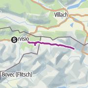 Karte / Handbike-Tour Tarvisio - Kranjska Gora (barrierefrei)