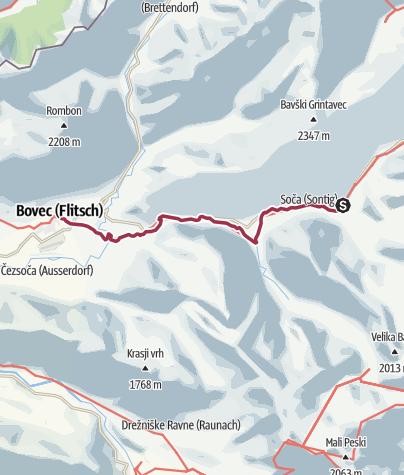 Map / Soča Trail 1/2 - Soča Valley Hiking Festival 2019