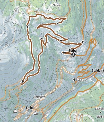 Karte / Törbel Loop