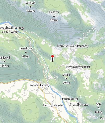 Map / Kozjak waterfalls