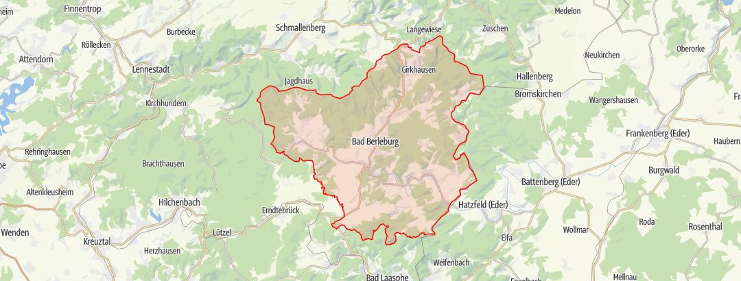 Karte / Ederauenweg
