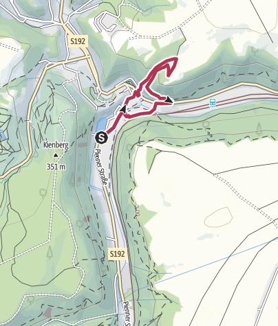 """Karte / 15. Route: Auf botanischen Wegen - """"Was blüht denn da? - Kräuterwanderung in und um Tharandt"""""""