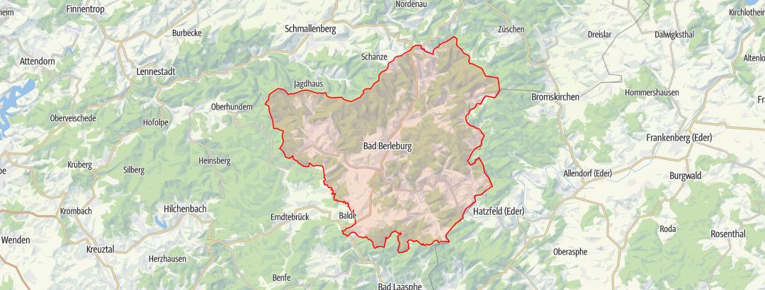 Karte / Stadtplan Bad Berleburg