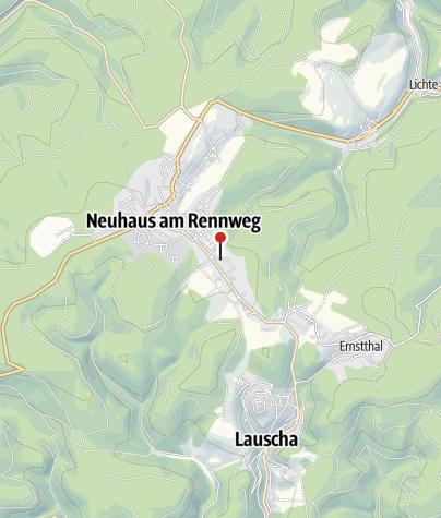 Karte / Kustel - Neuhaus am Rennweg