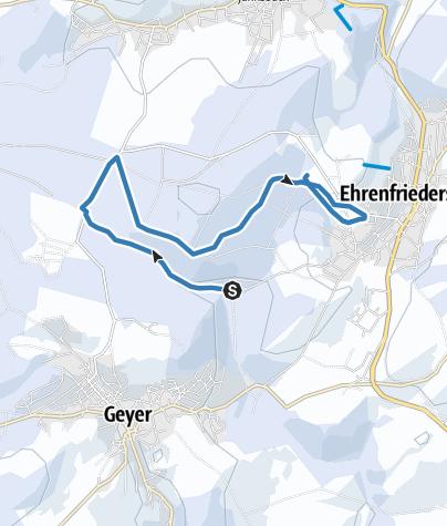 Karte / Skiwanderweg Ehrenfriedersdorf - Greifensteine - Wanderparkplatz (1+3)