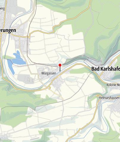 Karte / Personenfähre Herstelle-Würgassen