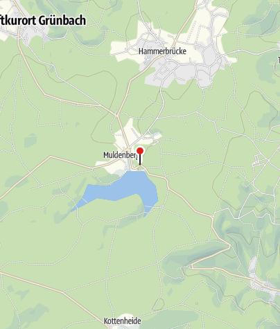 Map / Gaststätte Zur Talsperre in Grünbach OT Muldenberg