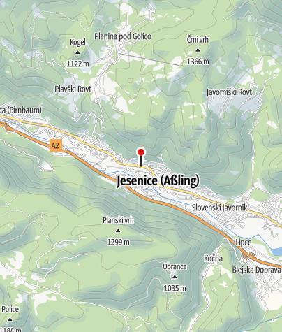 Map / TIC Jesenice