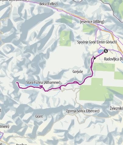 Karte / 04. Radltag: Rundfahrt Bohinski See