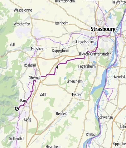 Carte / 06. Radltag: Andlau - Straßburg