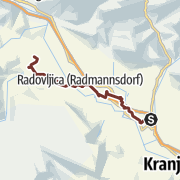 Map / St. Jacob's Trail Radolca (Podbrezje - Radovljica - Bled)